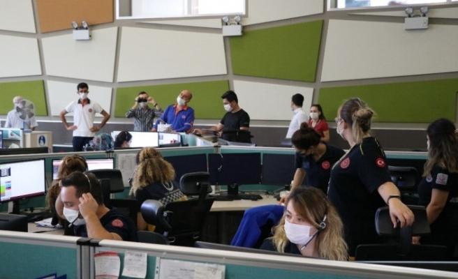 Acil çağrı merkezi ekipleri tatbikatlarla afetlere hazırlanıyor