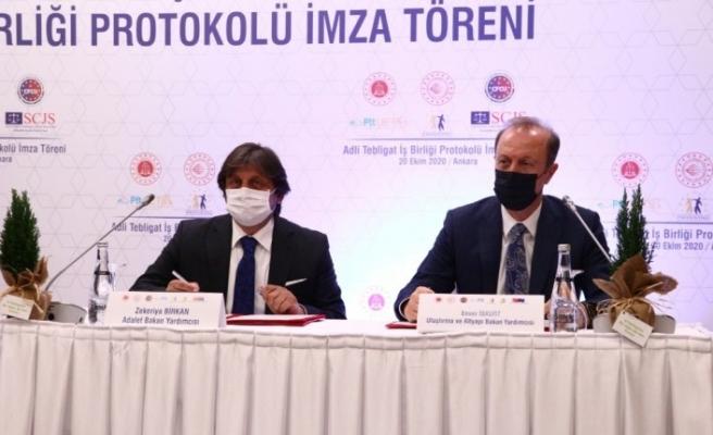 """Adalet Bakanlığı ile PTT arasında """"Adli Tebligat İşbirliği Protokolü"""" imzalandı"""