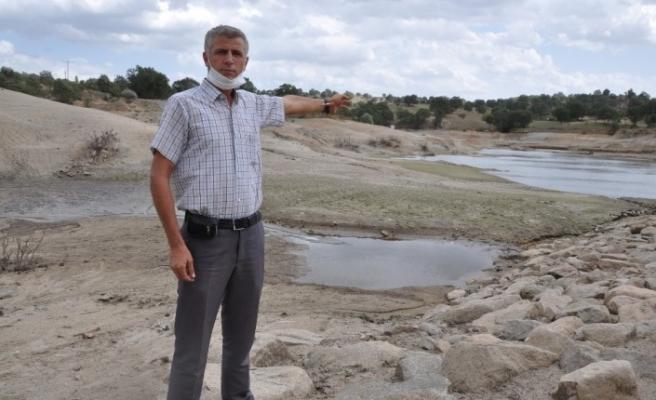 Efir Göleti'inde su seviyesi yüzde 80 azaldı