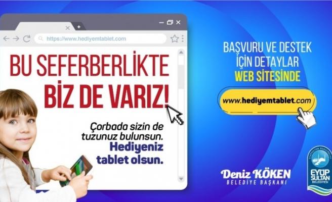 Eyüpsultan'da hediyem tablet kampanyası