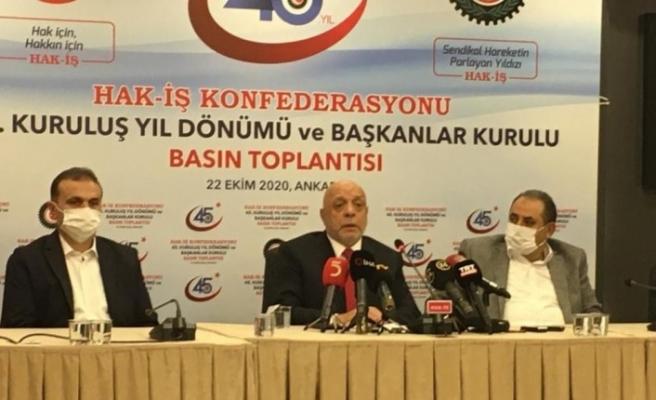 HAK-İŞ 45'inci kuruluş yıl dönümünü kutluyor