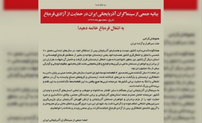 İran Türkü 100 sinema oyuncusundan Azerbaycan'a destek