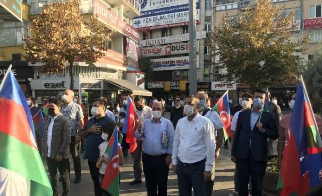 Konya'da yaşayan Azerbaycan Türklerinden ülkelerine destek