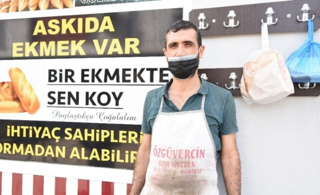 (Özel) MHP lideri Bahçeli'nin askıda ekmek çağrısına Siverek'ten destek