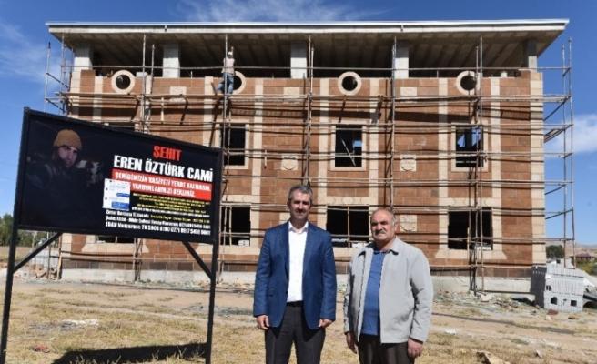 Şehit Eren Öztürk'ün vasiyet ettiği cami yapılıyor