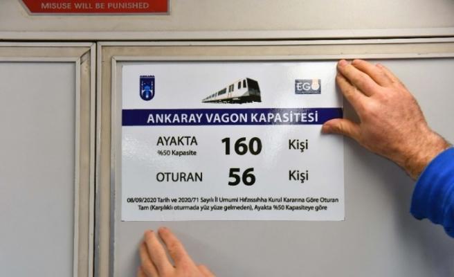 Toplu taşıma araçlarına yolcu kapasite etiketleri yerleştiriliyor