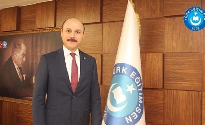 """Türk Eğitim-Sen Genel Başkanı Geylan: """"Öğretmenin itibarı, toplumun itibarıdır"""""""