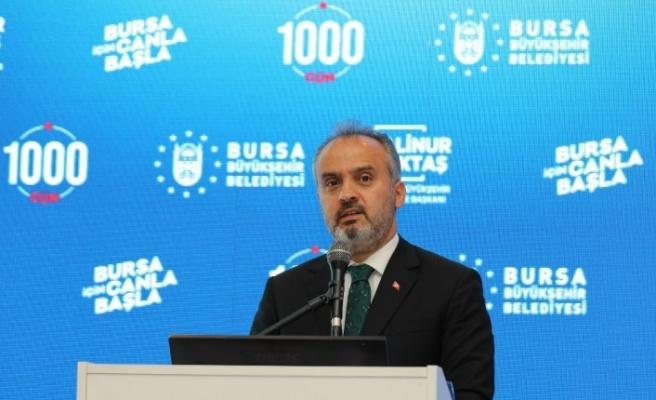 Alinur Aktaş, Bursa'nın canla başla geçen 1000 gününü paylaştı