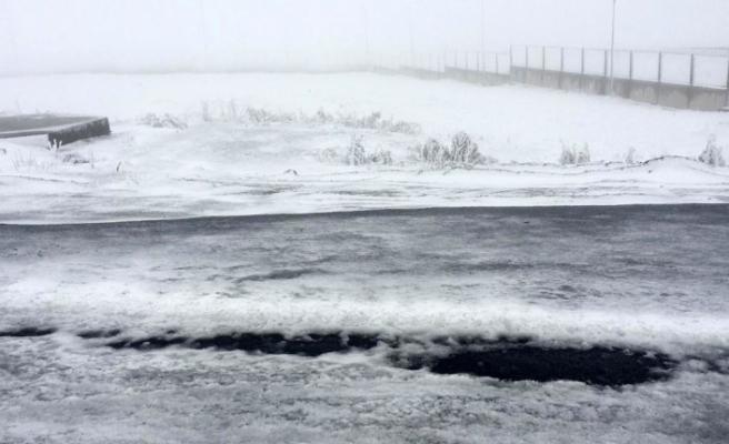 Ardahan'da ulaşıma kar, buz ve sis engeli