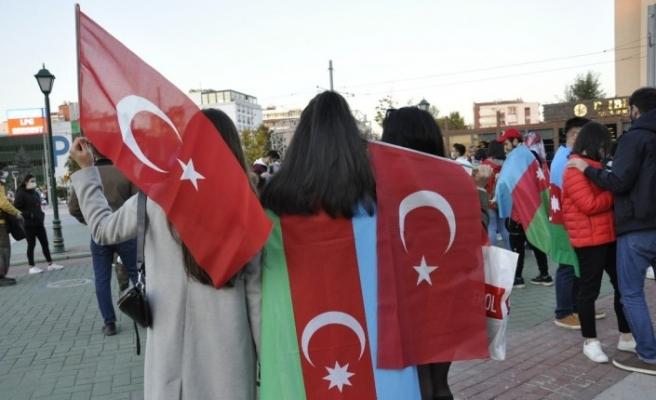 Azerbaycan'ın zaferi Eskişehir'de coşkuyla kutlandı