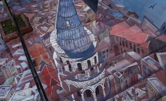Beyoğlu'nda merdivenler sanata dönüştü