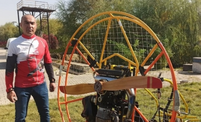 Hainler, 30 bin euroluk paramotorla uzun süren eğitimden sonra uçmuş