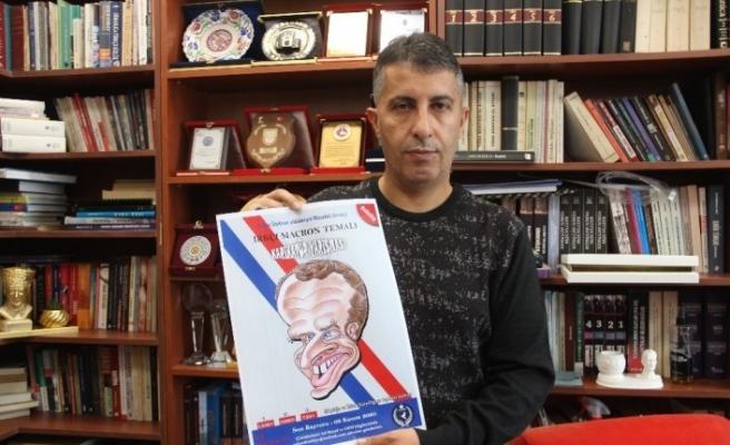 """""""Irkçı, Türk-İslam Düşmanı Macron"""" temalı karikatür yarışması düzenlenecek"""