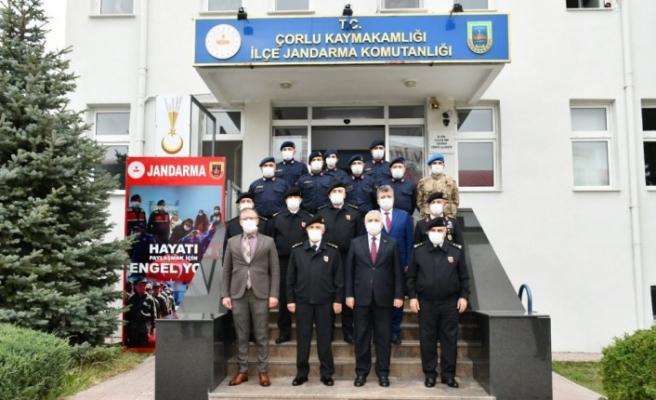 Jandarma Genel Komutanı Orgeneral Çetin Çorlu'da