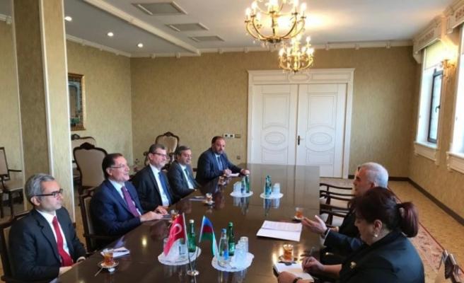 Kamu Başdenetçisi Malkoç, Nahçivan Ali Meclis Başkanı Talıbov ile görüştü