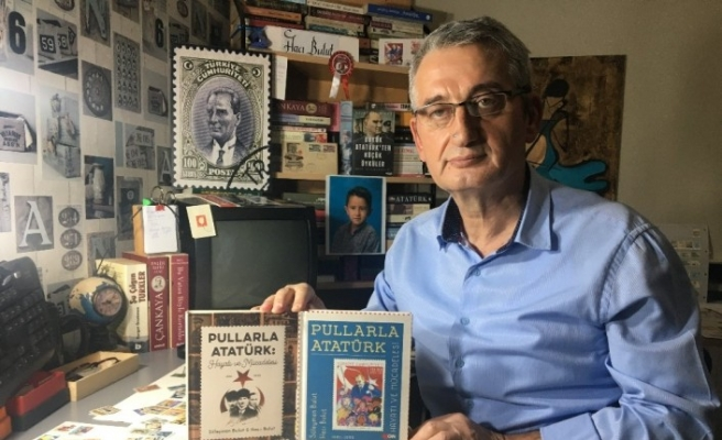 Pul koleksiyonundan Atatürk'ün hayatı çıktı