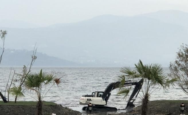 Sapanca Gölü'nde şok görüntü