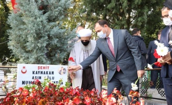 Şehit Kaymakam Safitürk vefatının 4'üncü yıl dönümünde kabri başında anıldı