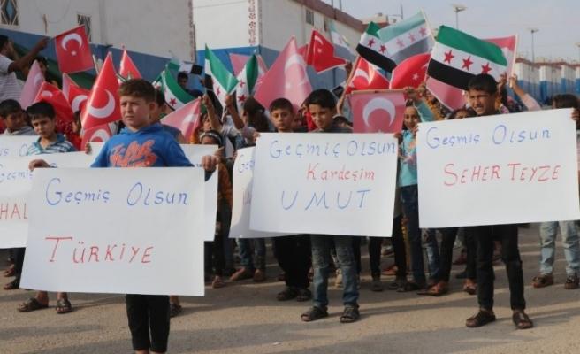 Suriyeli yetimlerden İzmir'e 'geçmiş olsun' mesajı