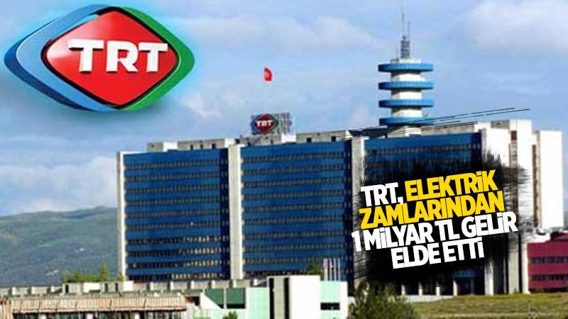 'TRT, elektrik zamlarından 1 milyar TL gelir elde etti'