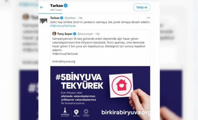 Ünlü sanatçı Tarkan'dan İzmir depremi için destek çağrısı