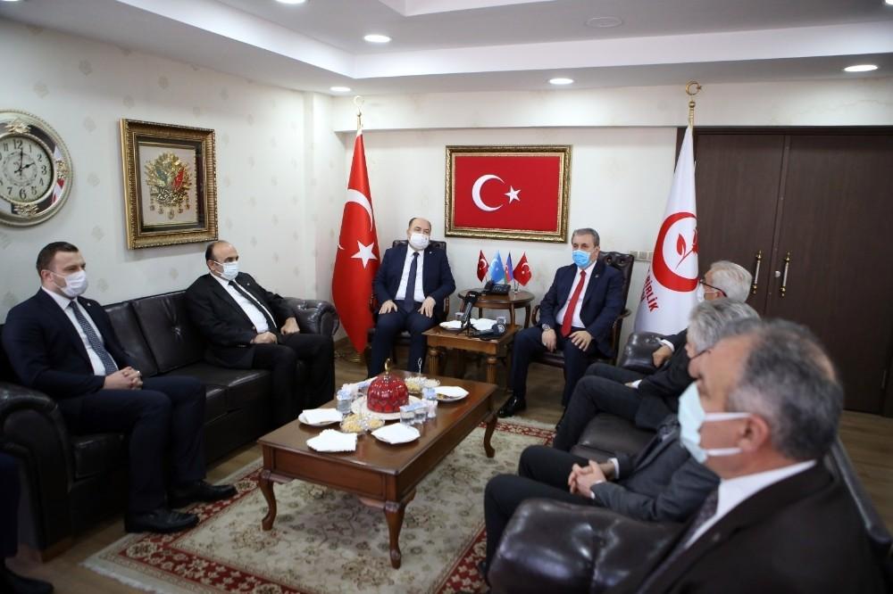 BBP Genel Başkanı Destici, Çelebi ile bir araya geldi