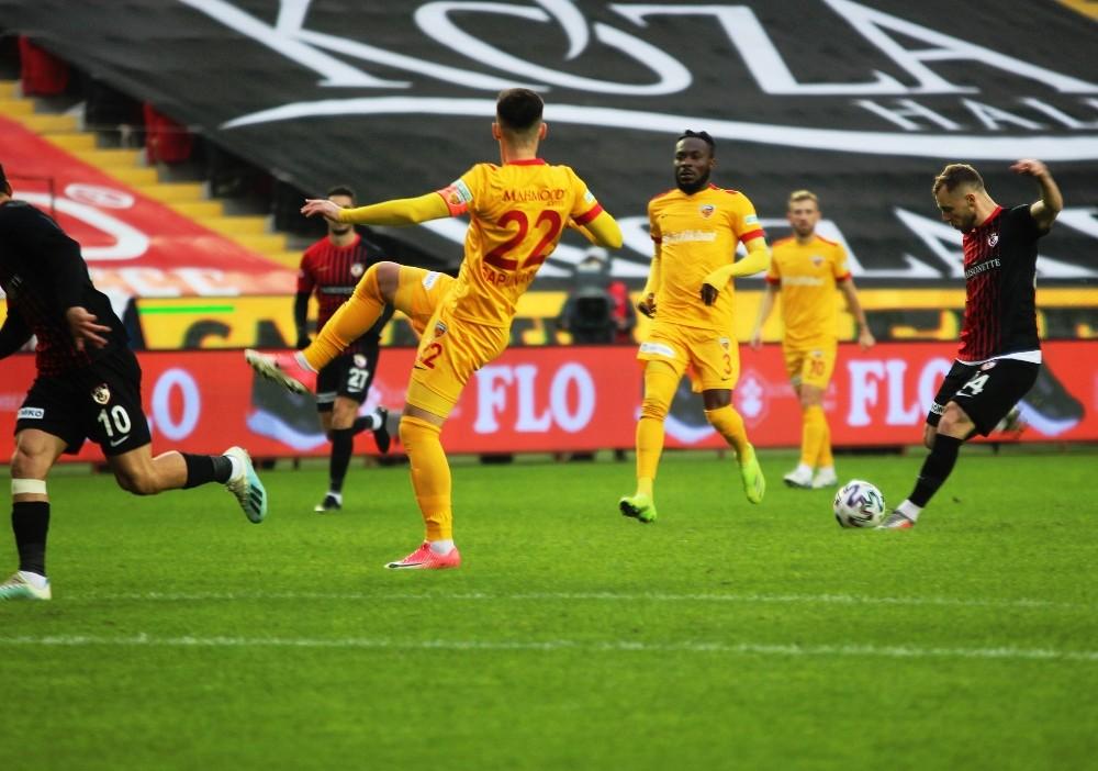 Süper Lig: Gaziantep FK: 1 – Kayserispor: 0 (İlk yarı)