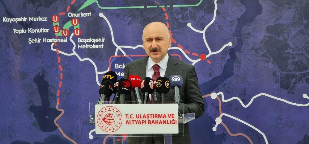 """Bakan Karaismailoğlu """"Başakşehir Çam ve Sakura Hastanesi-Kayaşehir Metro hattı bu yıl sonu hizmete girecek"""""""