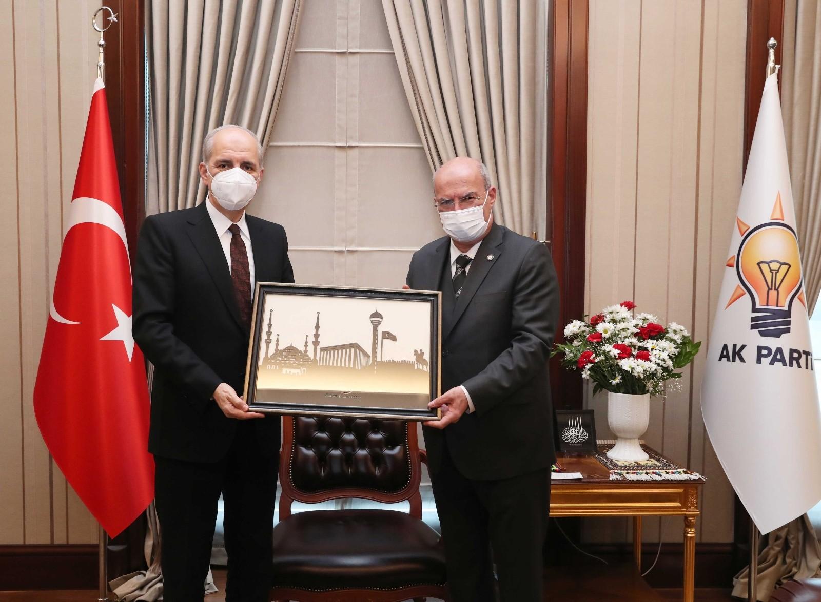 ATO heyetinden AK Parti Genel Başkanvekili Kurtulmuş'a ziyaret