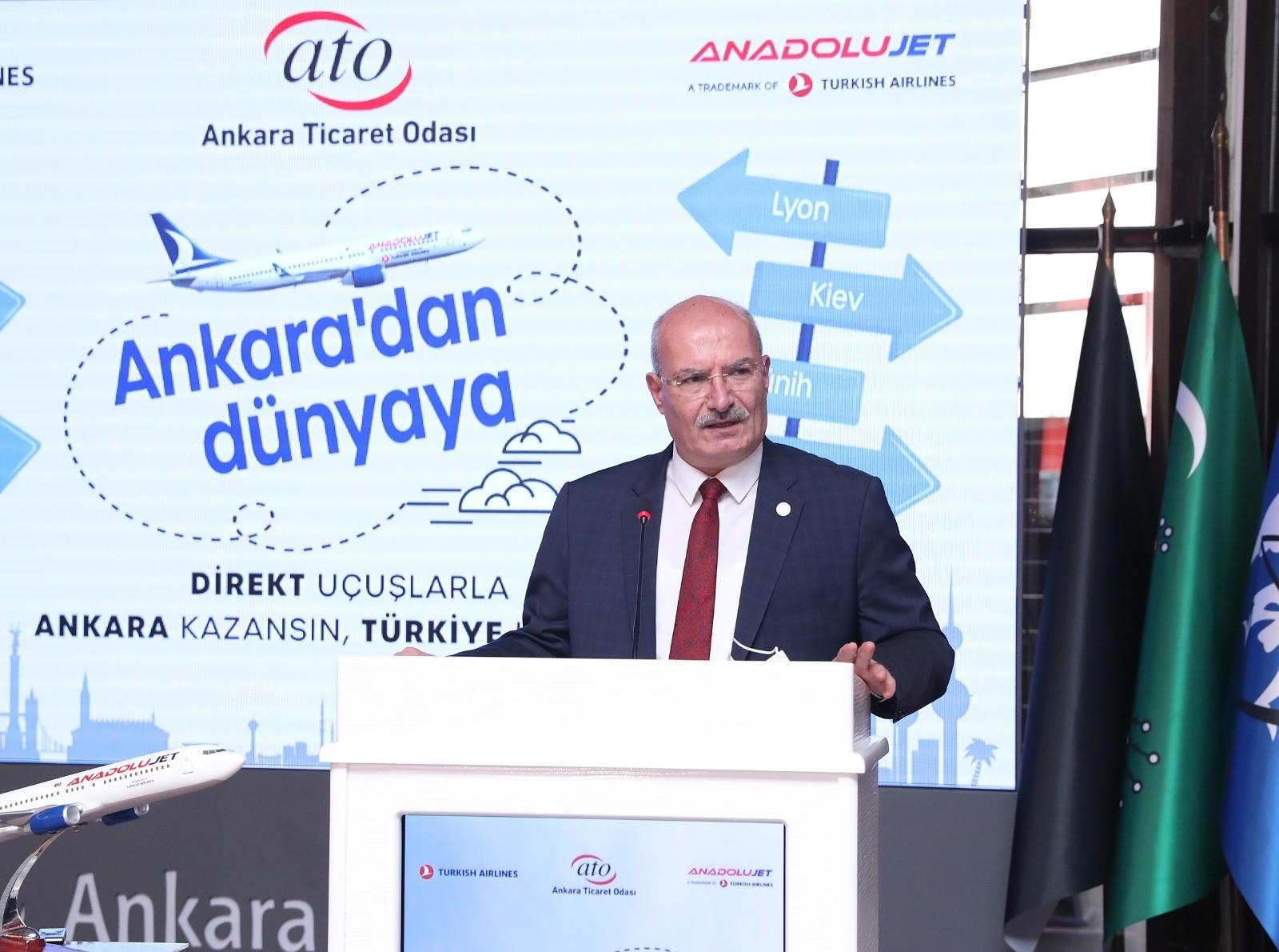 ATO'nun ısrarları neticesinde Ankara'dan yurtdışına 22 dış hat seferi gerçekleşecek