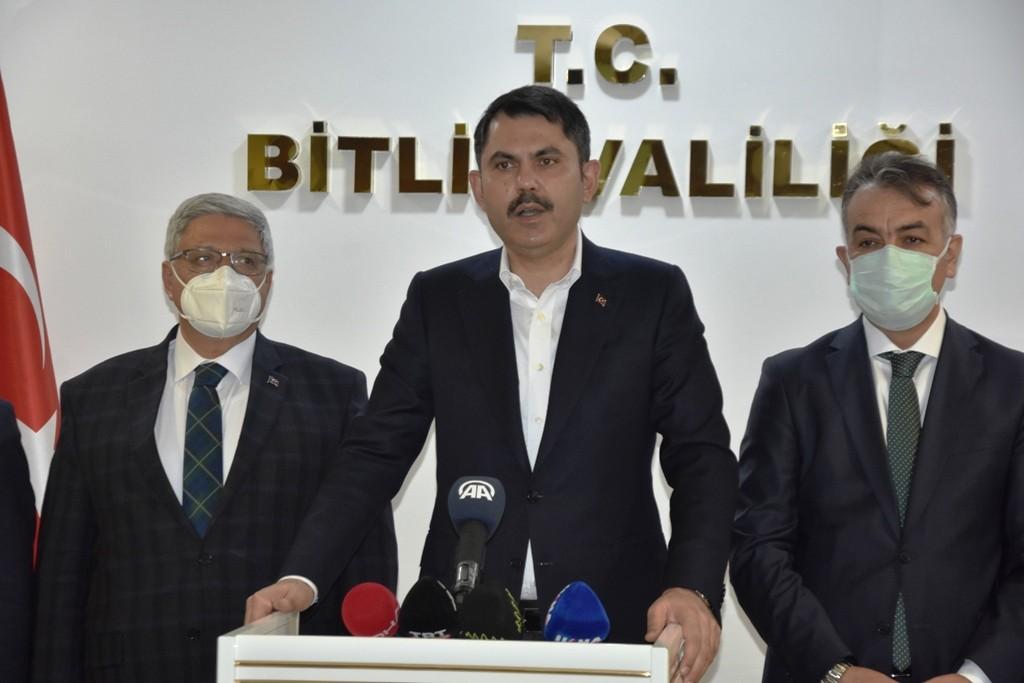 Çevre ve Şehircilik Bakanı Kurum'un Bitlis ziyareti