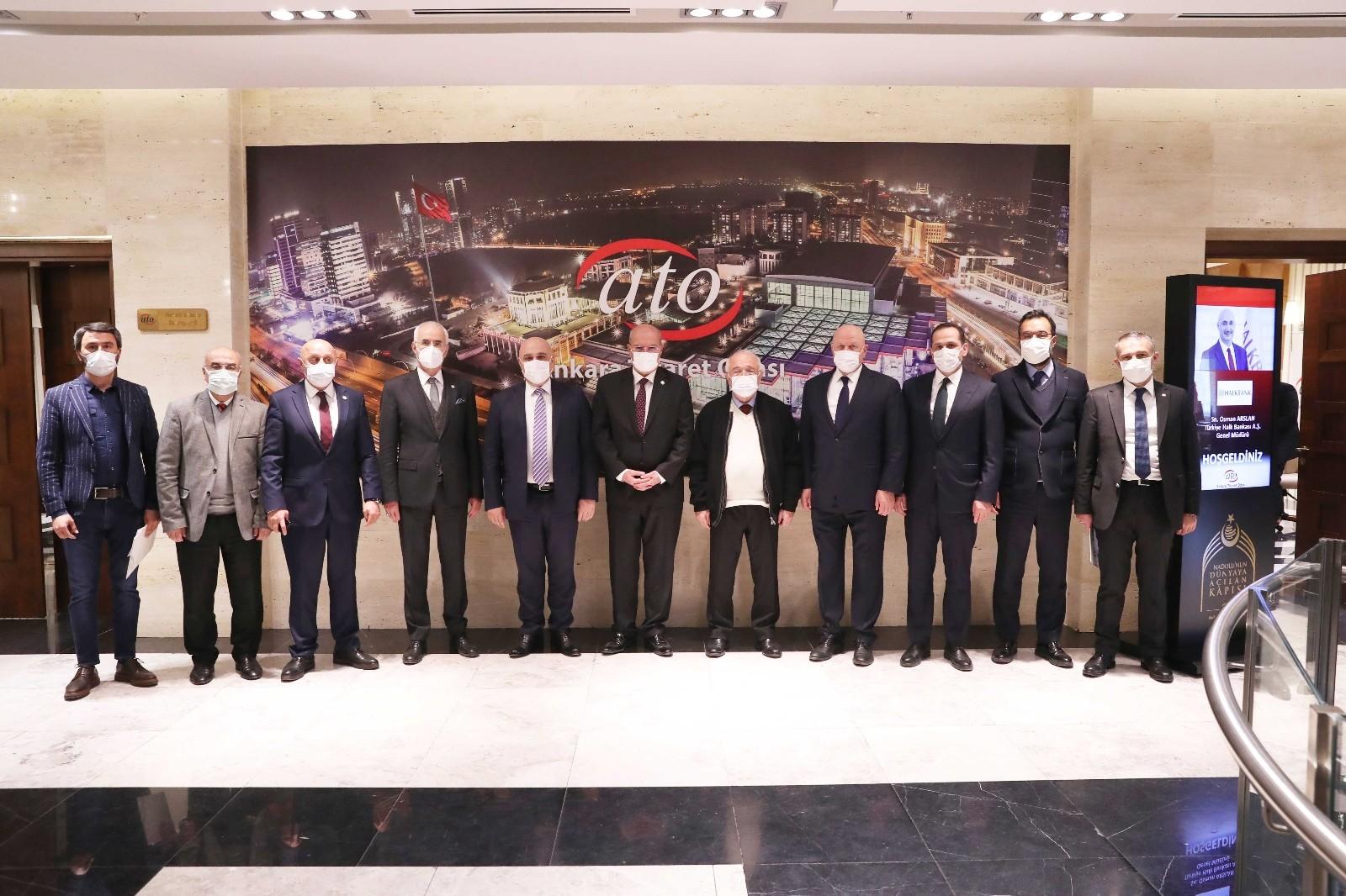 Halkbank Genel Müdürü Osman Arslan ATO'da reel sektörün sorunlarını dinledi