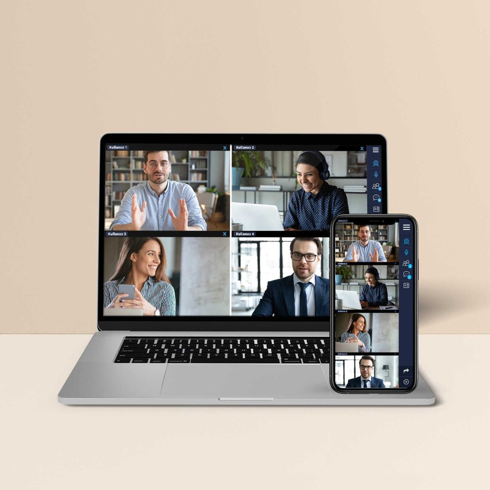 10'dan fazla dil tercümesi seçeneğiyle video konferans imkanı