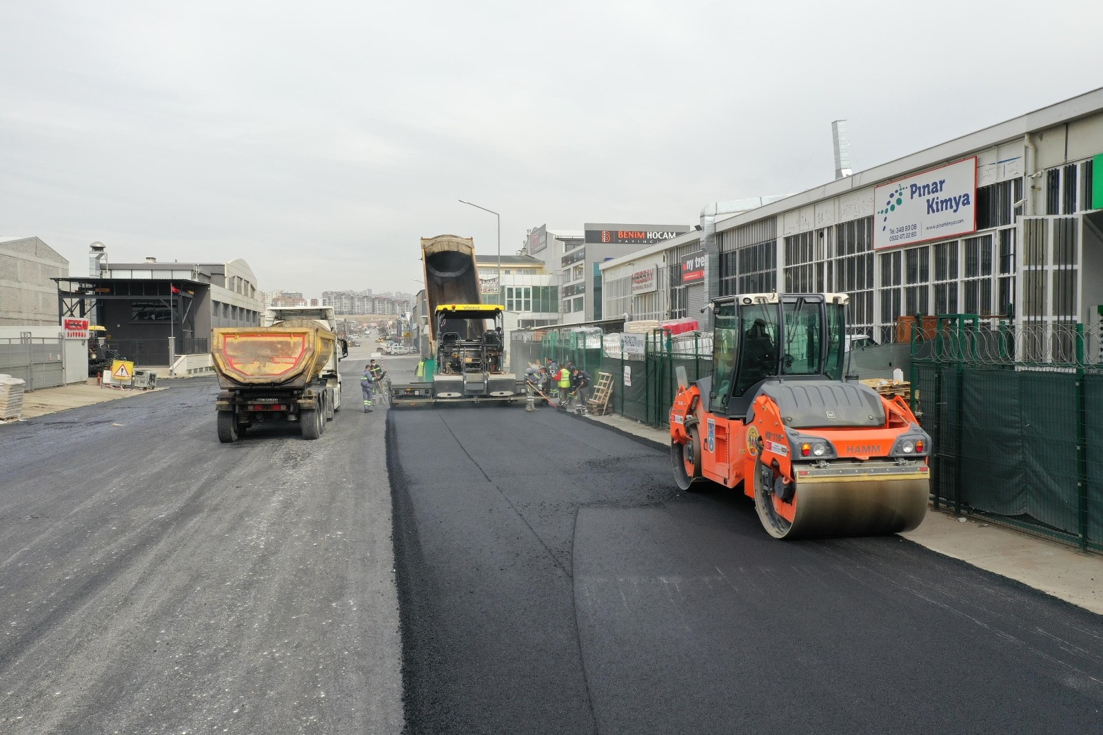 Ankara'da tam kapanmada asfalt seferberliği