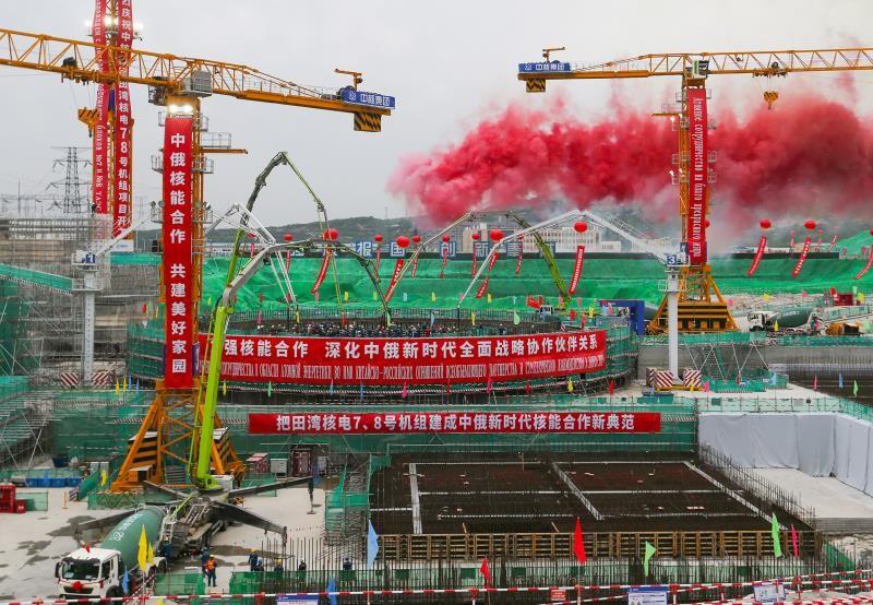 Rosatom'un Çin'de inşa ettiği Tianwan ve Xudapu Nükleer Güç Santrallerinin yeni güç ünitelerinin temeli atıldı